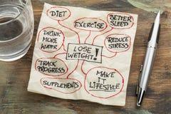 Verlieren Sie Gewicht mindmap Lizenzfreie Stockbilder