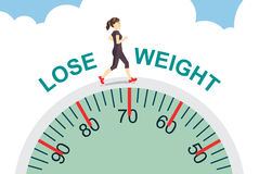 Verlieren Sie Gewicht mit dem Rütteln Stockfotos