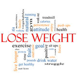 Verlieren Sie Gewichts-Wort-Wolken-Konzept Lizenzfreie Stockfotos