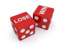 Verlieren Sie und gewinnen Sie Würfel Lizenzfreie Stockbilder