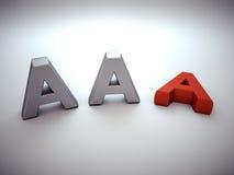 Verlierende AAA-Darstellung Stockbild