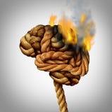 Verliezend Brain Function royalty-vrije illustratie