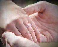 Verlobungsring Stockbild