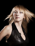 Verlockende blonde Frau Lizenzfreie Stockfotografie
