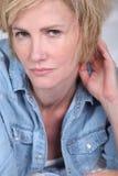 Verlockende blonde Frau Stockfotos