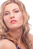 Verlockende blonde Frau mit heller Verfassung Stockfotos