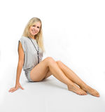 Verlockendes blondes Mädchen Stockfoto