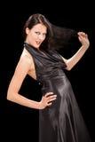 Verlockendes weibliches Spielen mit ihrem hair-3 lizenzfreies stockbild