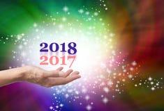 Verlof 2017 erachter voor 2018 Royalty-vrije Stock Afbeeldingen