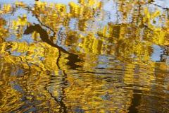 Verlof` s bezinning over het water Royalty-vrije Stock Foto