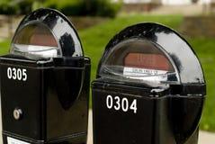 Verloop parkeermeters Royalty-vrije Stock Foto's