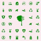 verloren de boom verlaat groen pictogram voor Web wordt geplaatst dat en mobiel de pictogrammenalgemeen begrip van Greenpeace royalty-vrije illustratie
