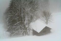 Verloren in de Mist stock afbeeldingen