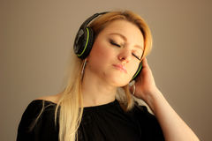 Verloren in de muziek Stock Foto