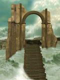 Verloren in de oceaan Royalty-vrije Stock Foto's