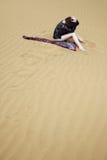Verloren in de woestijn stock fotografie