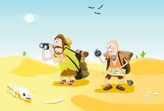Verloren in de woestijn vector illustratie