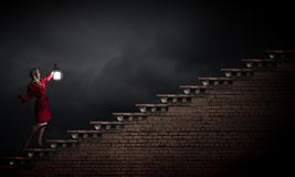 Verloren in der Dunkelheit Stockfotografie