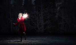 Verloren in der Dunkelheit Lizenzfreie Stockfotos