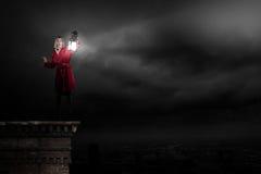 Verloren in der Dunkelheit Stockbilder