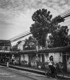 Verloren in der Stadt Stockbilder