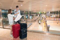 Verloren am Flughafen Stockfotografie