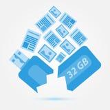 Verloren gegevens of informatie stock illustratie