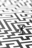 Verloren in het labyrint stock foto's