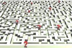 Verloren in het labyrint van besluiten - 3D beeld Royalty-vrije Stock Fotografie