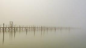 Verloren im Nebel Stockfoto