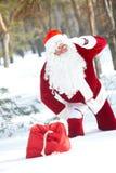 Verloren Kerstman Stock Afbeelding
