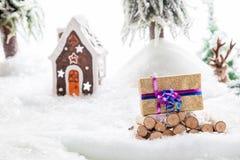 Verloren Kerstmisgift Stock Foto's