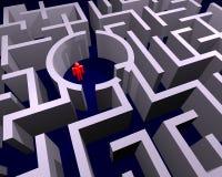 Verloren in labyrint Stock Foto's