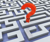Verloren in labyrint stock illustratie