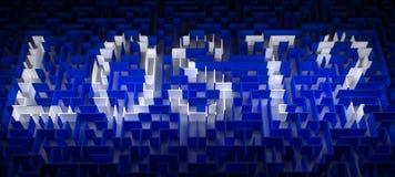 Verloren labyrint Royalty-vrije Stock Foto's
