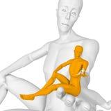 Verloren mens vector illustratie