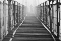 Verloren in mist stock afbeelding