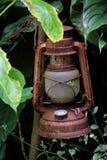 Verloren roestige lantaarn Stock Foto's