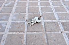 Verloren sleutels van huis stock foto