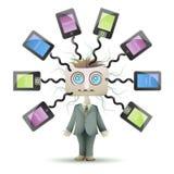 Verloren in Sociaal Netwerk vector illustratie