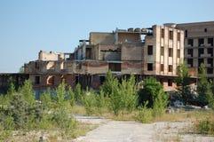 Verloren stad. Het gebied van Tchernobyl. Stock Afbeelding