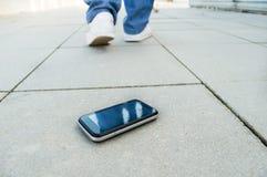 Verloren telefoon Stock Foto