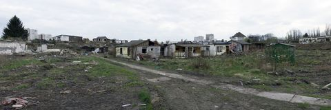 Verlorene Häuser stockbild