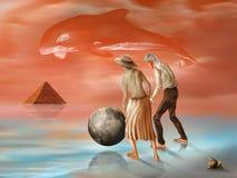Verlorene Pyramide lizenzfreie abbildung