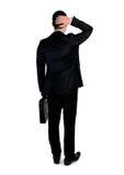 Verlorene Richtung des Geschäftsmannes Stockfotografie