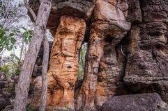 Verlorene Stadtfelsformationen in Nationalpark Litchfield stockbild
