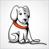 Verlorene traurige Hundevektorillustration Stockfotografie