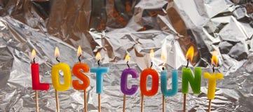 Verlorene Zählung; alles Gute zum Geburtstag lizenzfreies stockfoto