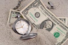 Verlorene Zeit und Geld Stockfoto