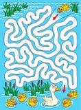 Verlorenes Entlein - Labyrinth einfach lizenzfreie abbildung